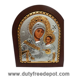 Colored Icon Silver Plate by Religious Gifts