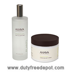 Ahava Spa Oil & Caressing Sorbet Kit  (500ml+350ml+10ml)
