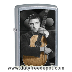 "Zippo 28431 ""Elvis Presley"" Street Chrome Pocket Lighter"