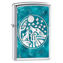 Zippo Full Moon High Polish Chrome Lighter (model: 24941)