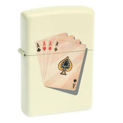 Zippo Cream Matte Lighter (model: 24795)