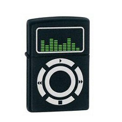 Zippo Music Black Matte Lighter (model: 24712)