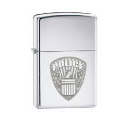 Zippo US Police High Polish Chrome Lighter (model: 24702)