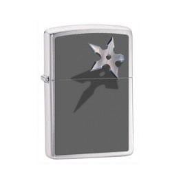 Zippo Cornered Star Brushed Chrome Lighter (model: 28030)