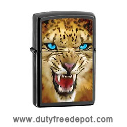Zippo 28276  Leopard Black Ebony Finish Lighter